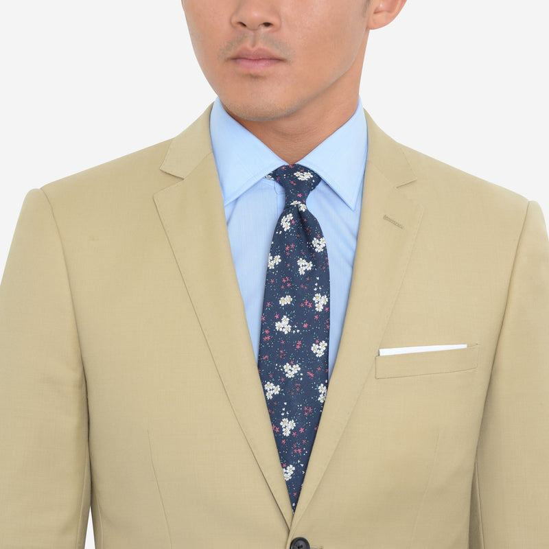 Tan Slim Fit Suit