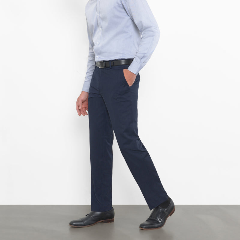 Navy Double Pinstripe Workhorse Pants