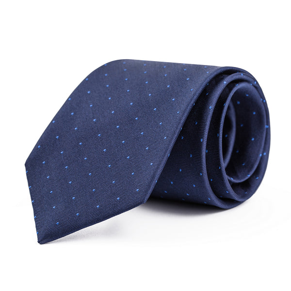 Navy and Light Blue Mini Polka Dot Tie