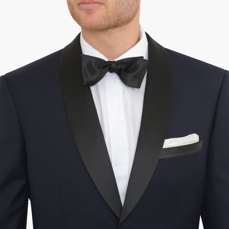Navy Slim Fit Shawl Collar Tuxedo