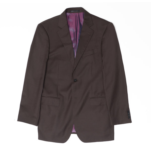Essential Chocolate Brown Tailored Fit Suit Jacket