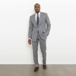 Grey Modern Fit Suit