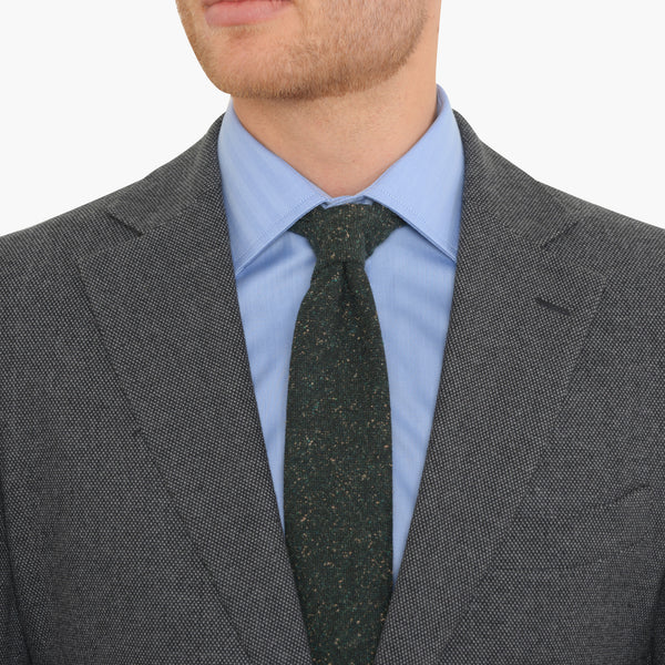 Charcoal Cotton Birdseye Tailored Fit Suit