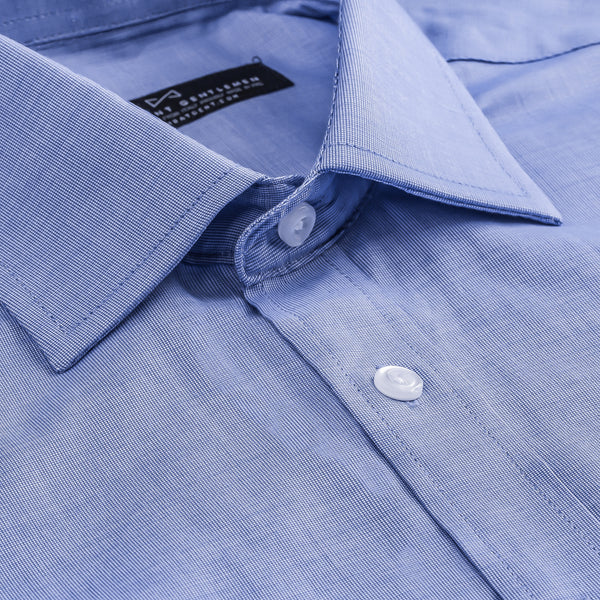Light Blue Nailhead Slim Fit Wide Spread Collar Shirt