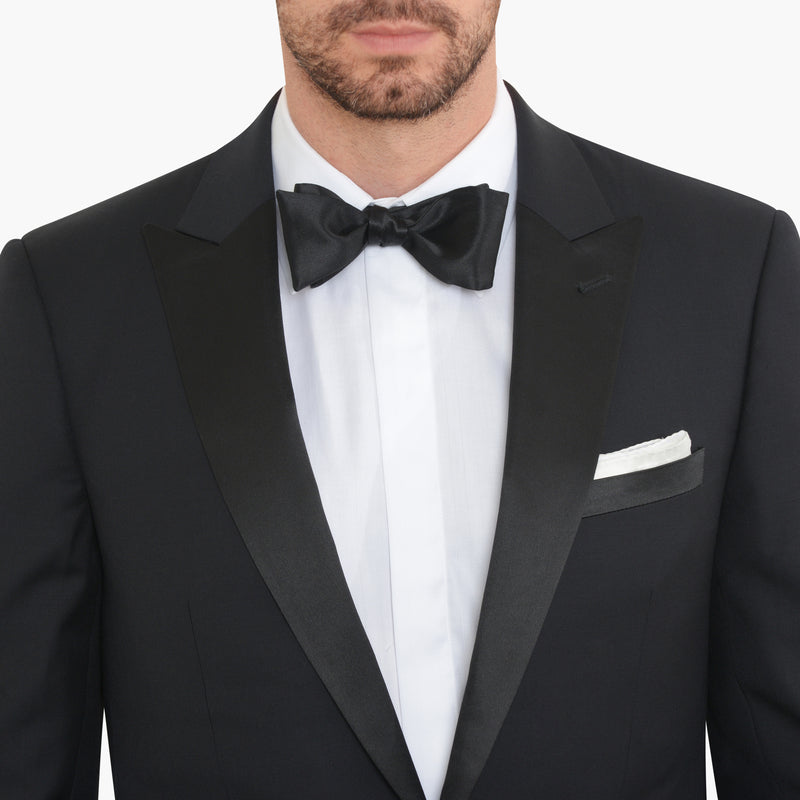 Black Slim Fit Peak 1 Button Tuxedo