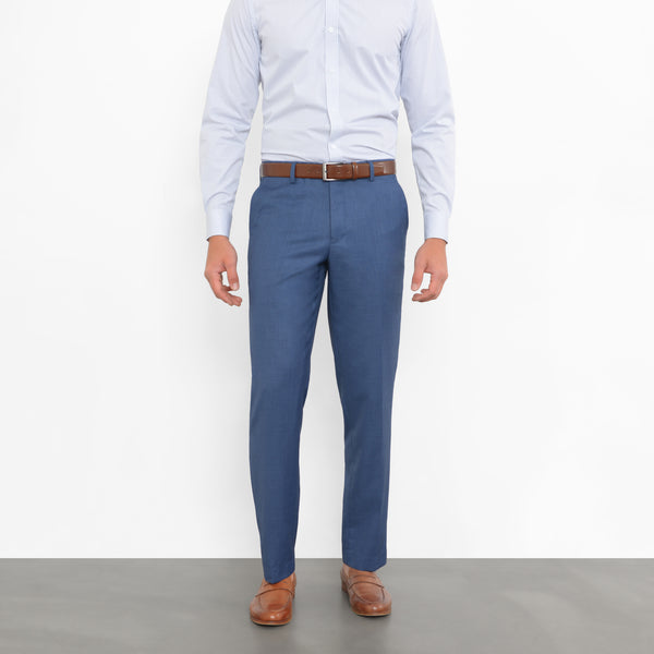 Slate Blue Sharkskin Workhorse Pants