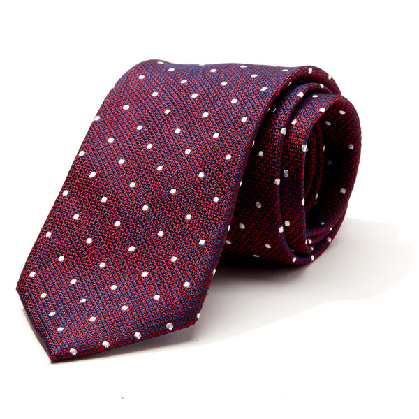 Power of Polka Burgundy Tie