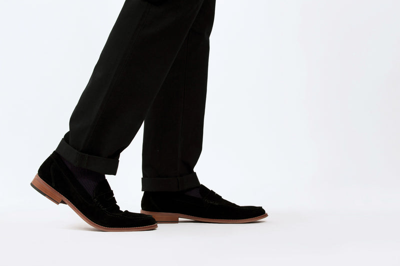 Black Slim Straight Chino Pant