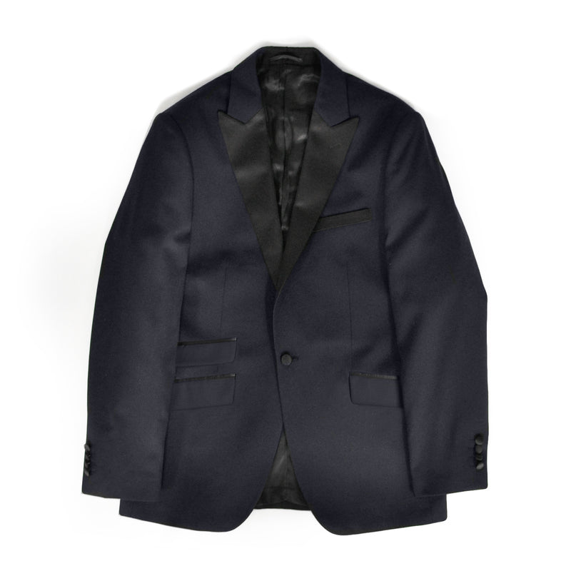 Navy Slim Fit Peak 1 Button Tuxedo Jacket