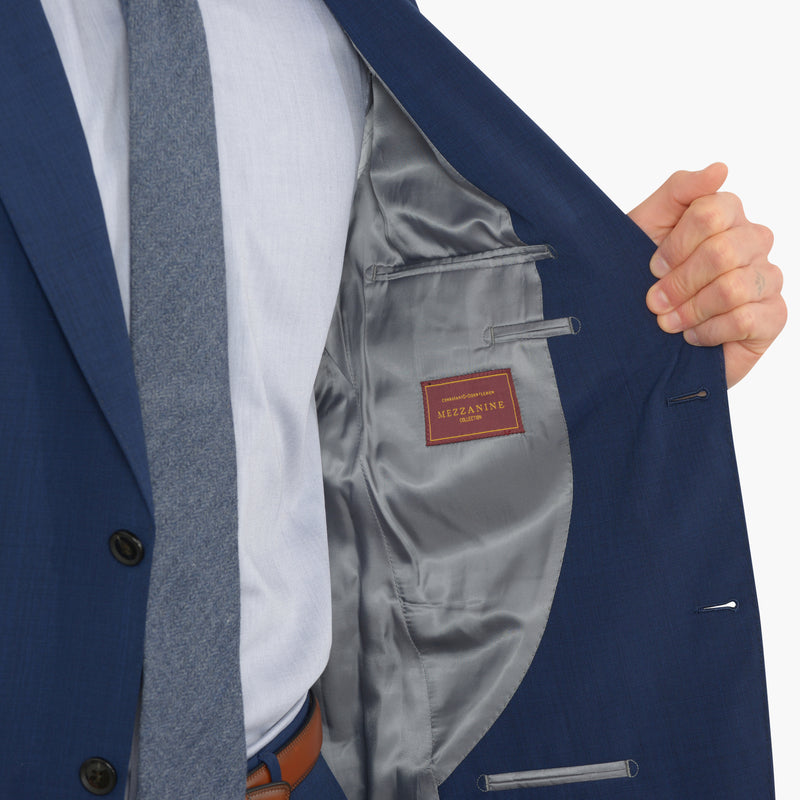 Blue Nailhead Tailored Fit Suit