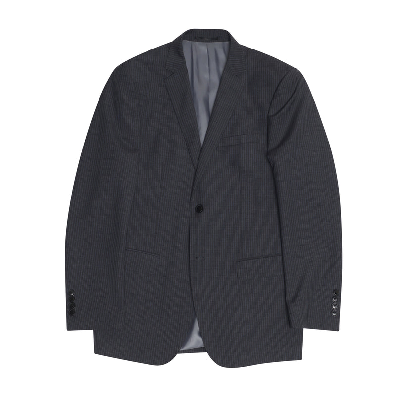 Charcoal Pinstripe Slim Fit Suit Jacket