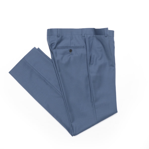 Essential Slate Blue Slim Fit Suit Pant