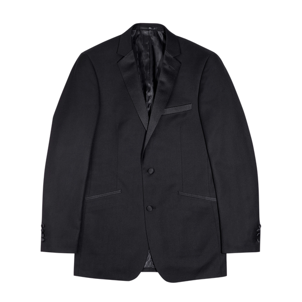 Black Modern Fit Notch Lapel Tuxedo Jacket