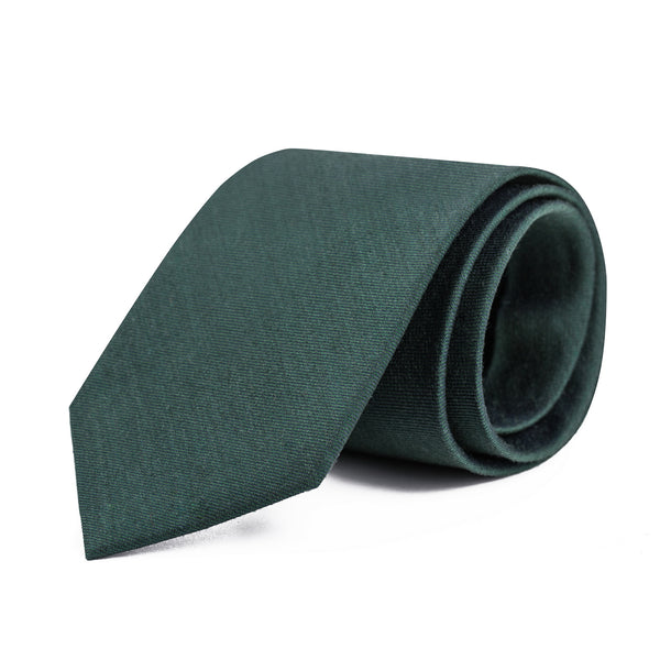 Hunter Green Twill Tie