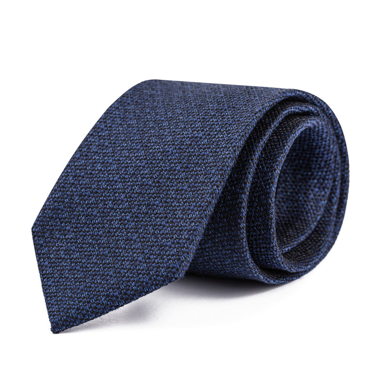 Black and Blue Hopsack Tie