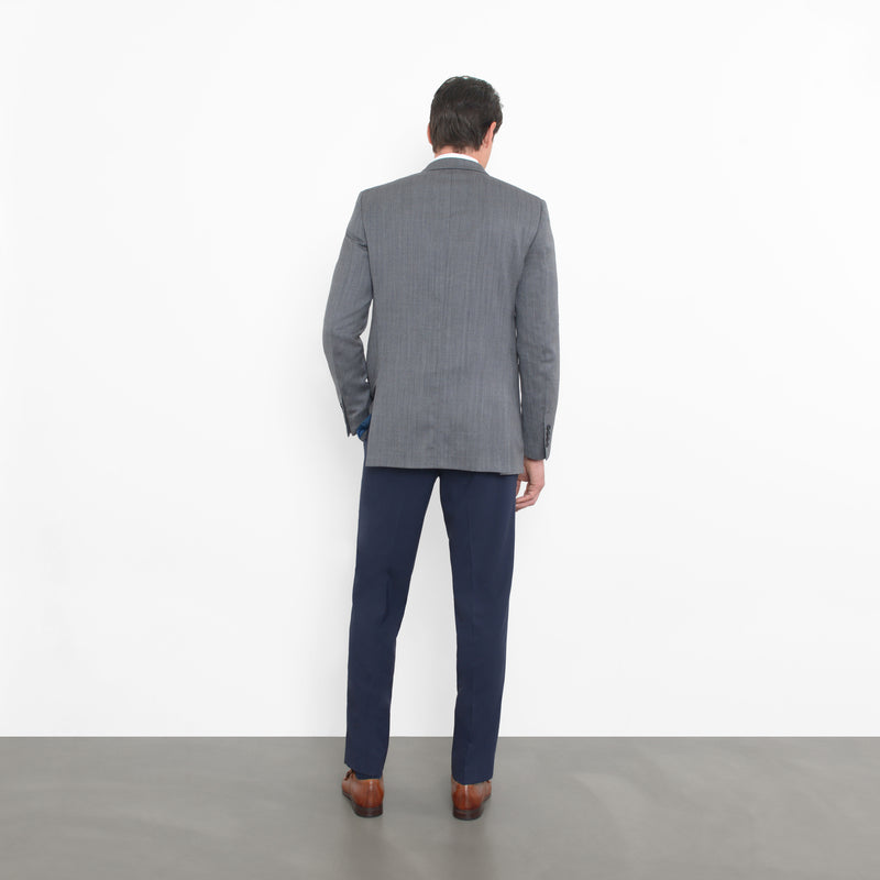 Charcoal Herringbone Slim Fit Blazer
