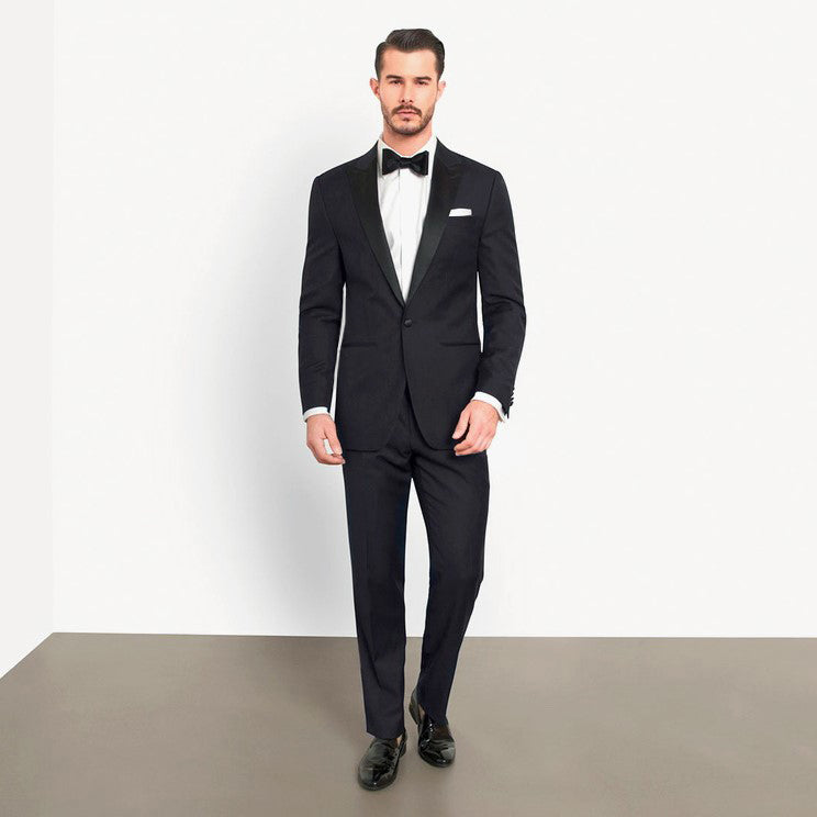 Navy Slim Fit Peak 1 Button Tuxedo
