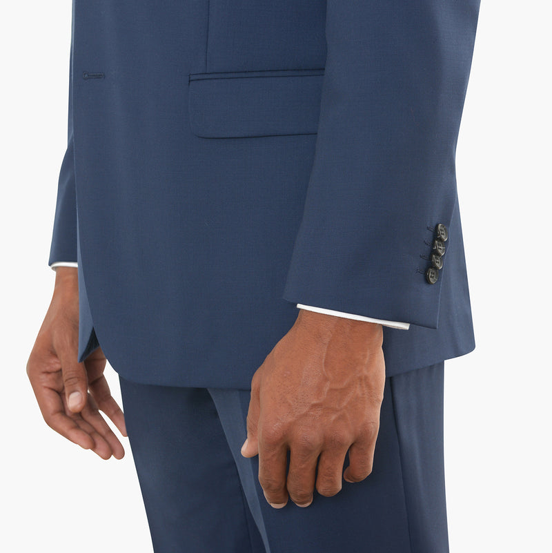 Blue Modern Fit Suit