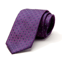 Boxes on Purple Tie