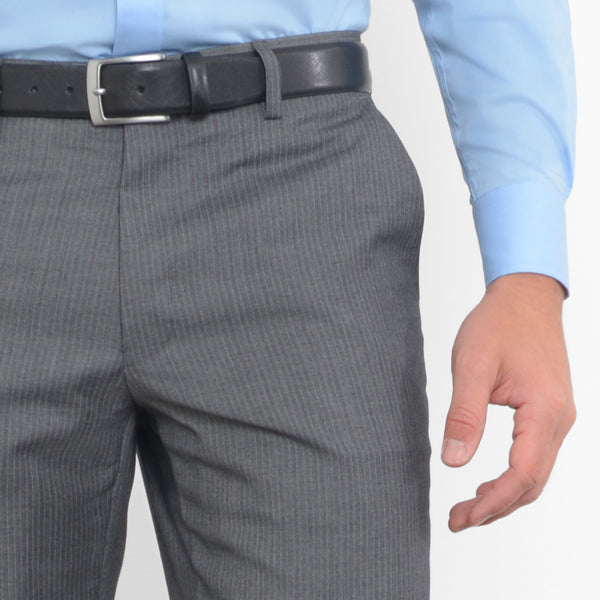 Grey Pinstripe Workhorse Pants