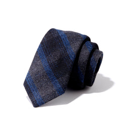 Charcoal and Blue Stripe Tie