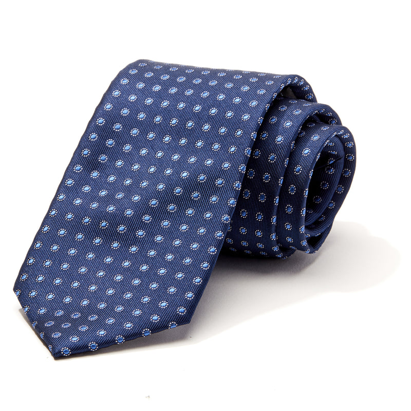 Navy and Blue Mini Foulard Tie