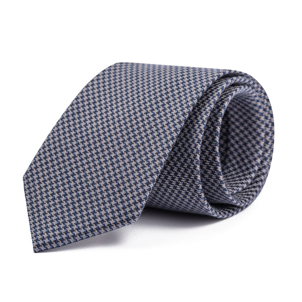 Black and Grey Houndstooth Tie