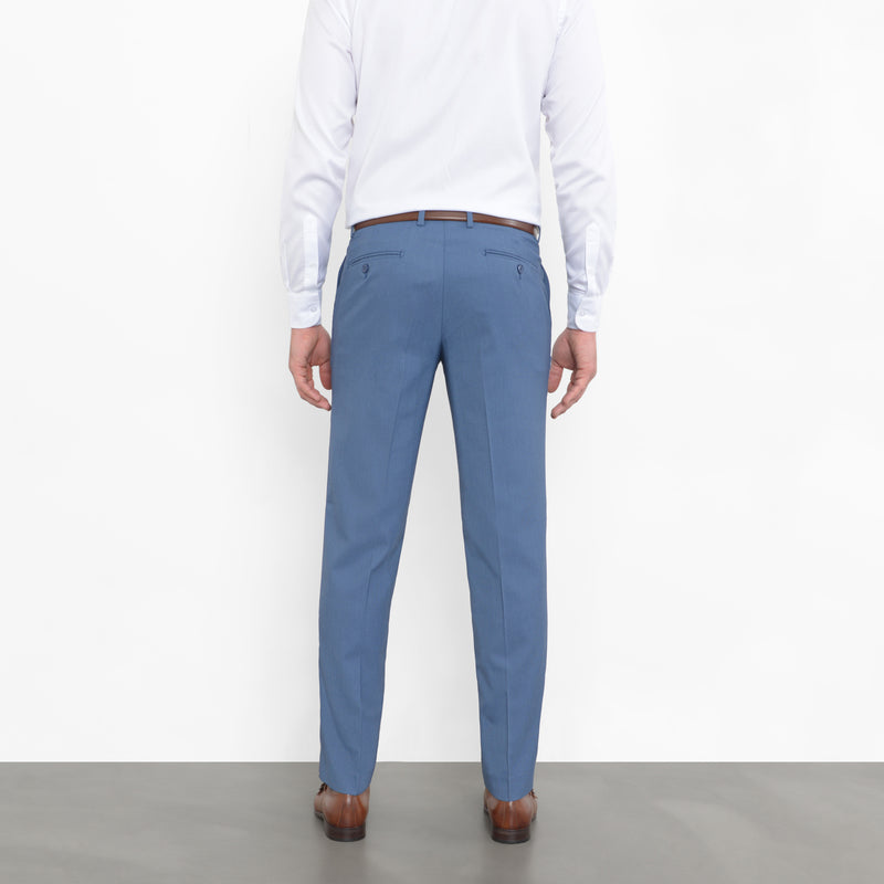 Slate Blue Birdseye Stretch Pants