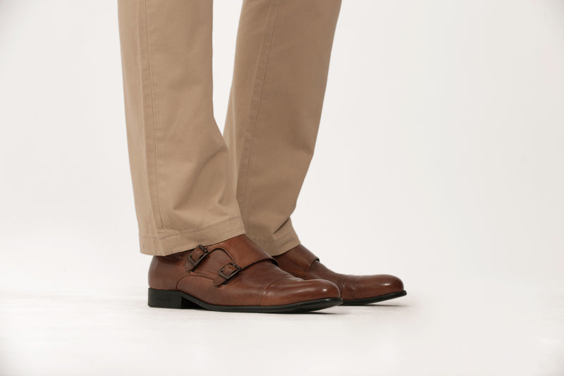 Tan Slim Straight Chino Pant