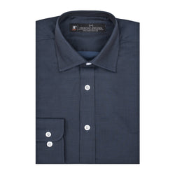 Navy Nailhead Athletic Fit Wide Spread Collar