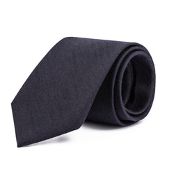 Black Mini Herringbone Tie
