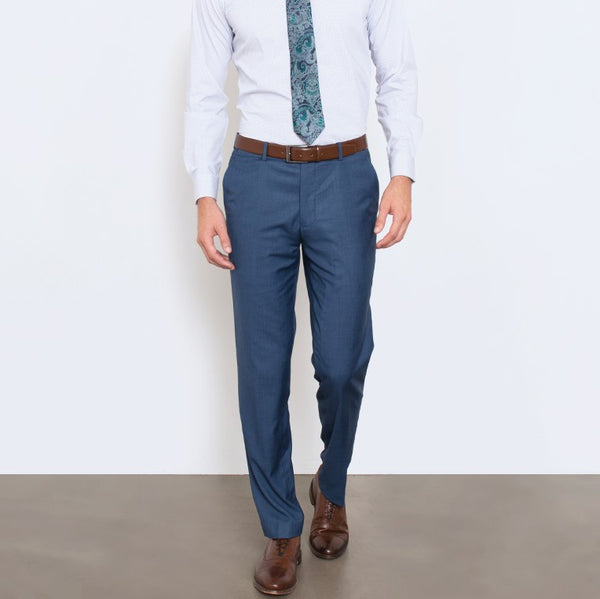 Slate Blue Windowpane Glen Plaid Workhorse Pants