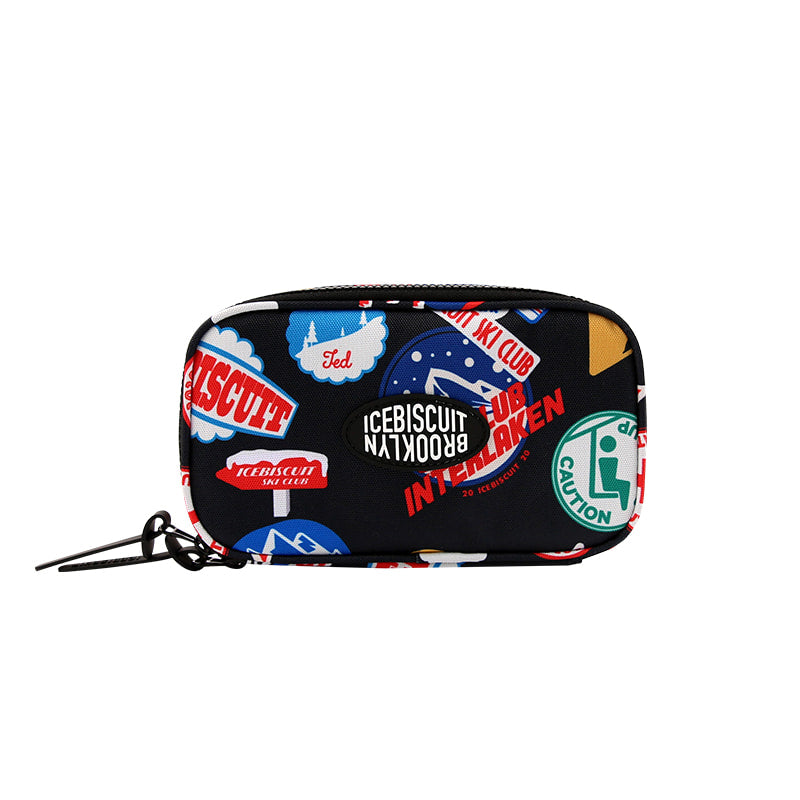 Icebiscuit ski patch printed multi pouch