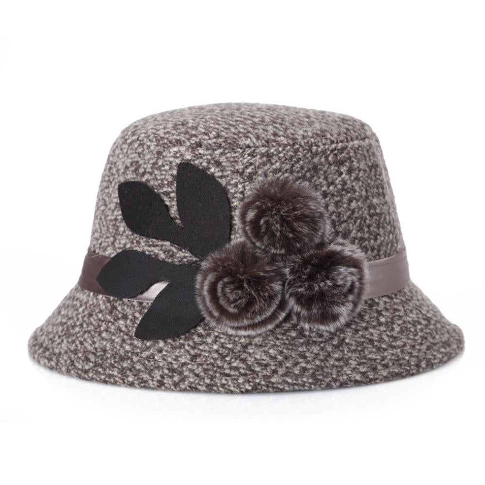 Solid Pom Elegant Party Bucket Hat