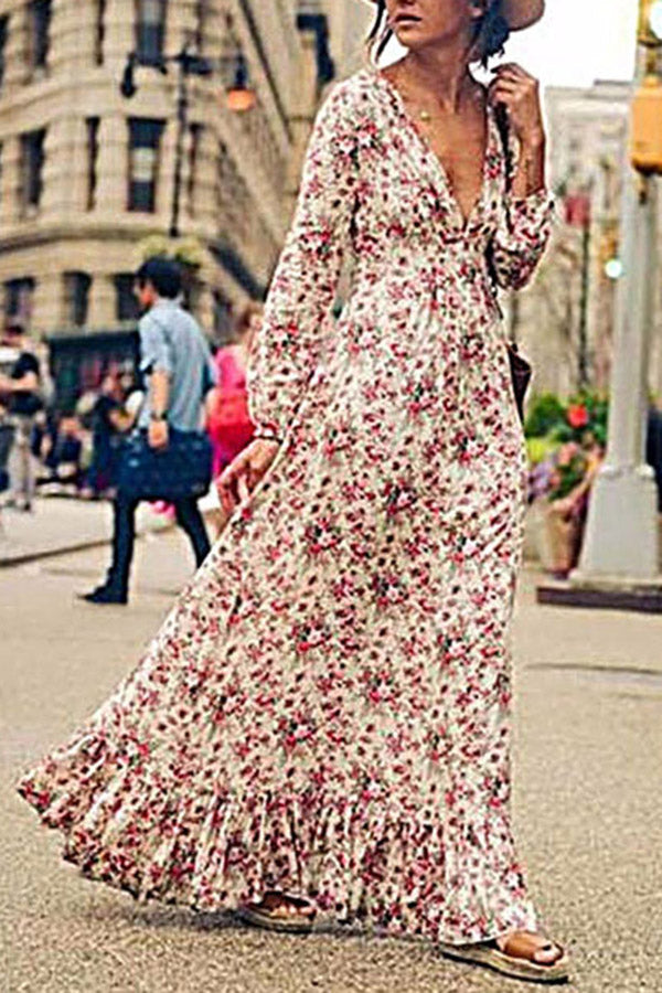 Bohemia Holiday Floral Maxi Dress