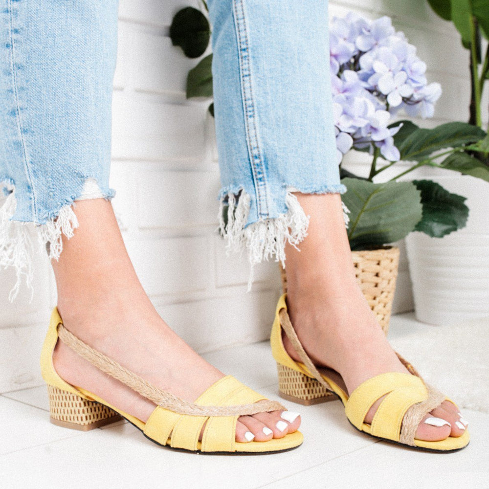 Retro Patchwork Straw Thick Peep Toe Sandals