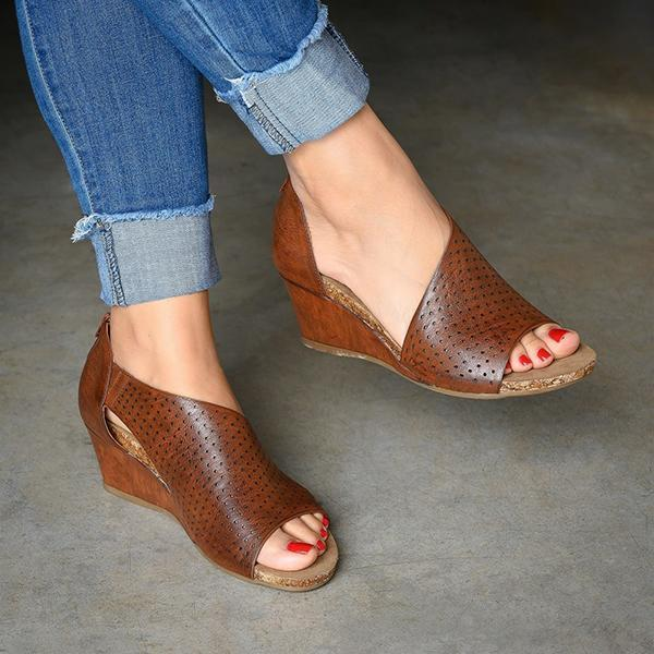 Daily Slip On Wedge Sandals