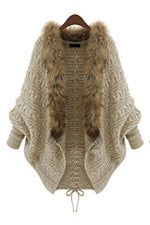 Solid Long Sleeves Fluffy Cardigans