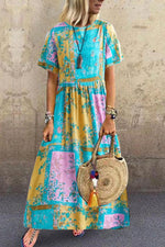 Gradient Side Pockets Maxi Dress