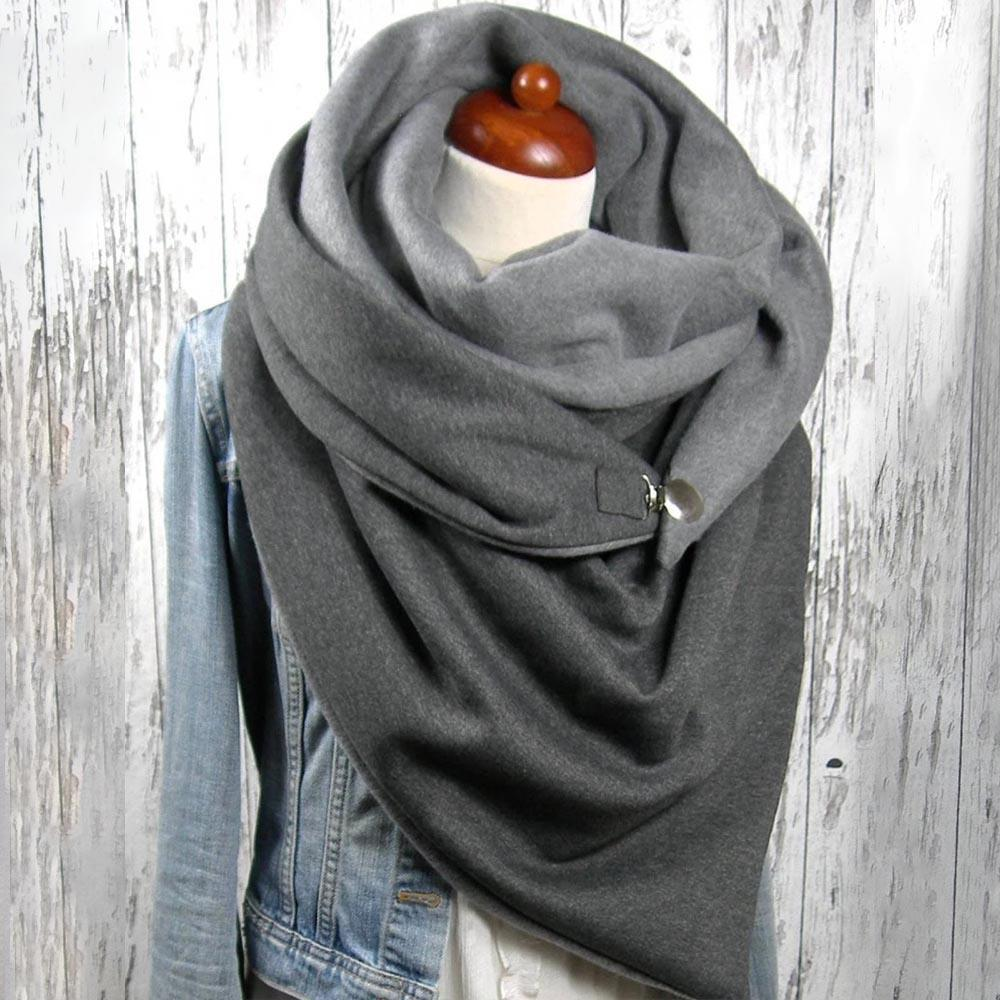 Casual Solid Warm Triangle Scarfs