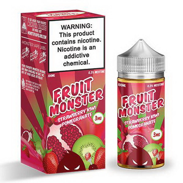 Strawberry Kiwi Pomegranate 100ml by Fruit Monster - ANA Traders