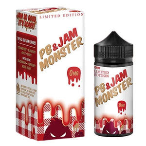 Strawberry PB and Jam 100ml by Jam Monster - ANA Traders