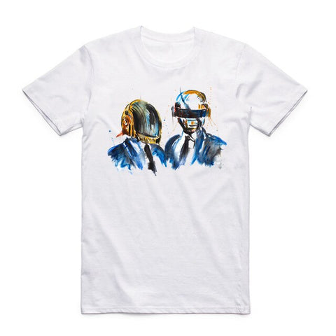 daft punk t shirt band art