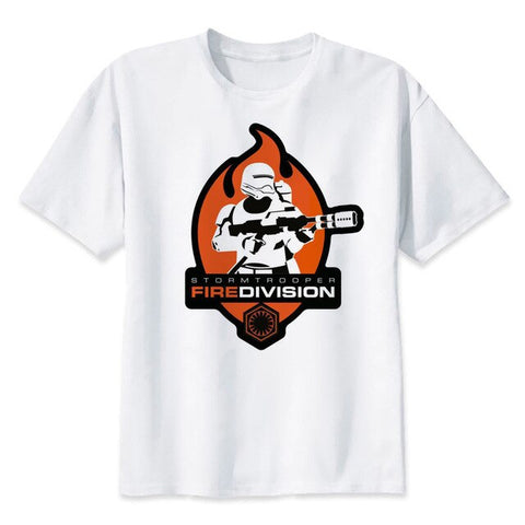 tee shirt star wars stormtrooper fire division