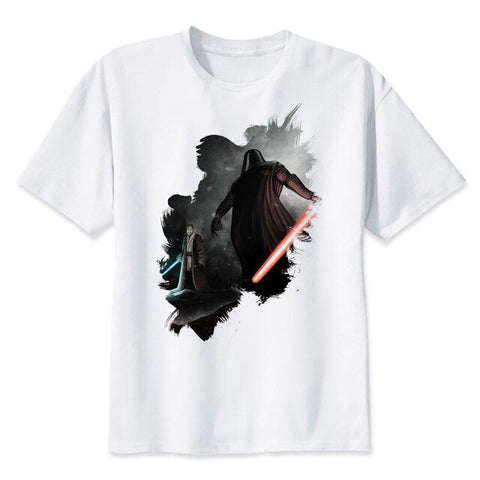 t shirt star wars obi wan dark vador