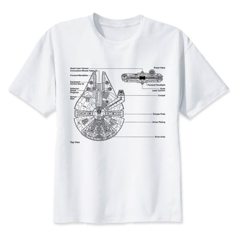 t shirt star wars millennium falcon map