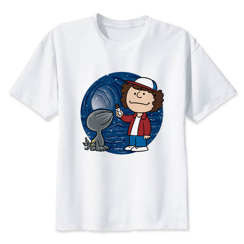 t shirt stranger things dustin dart cartoon