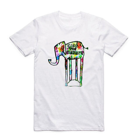t shirt cage the elephant logo art