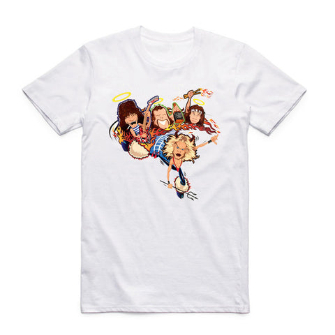 t shirt van halen cartoon band
