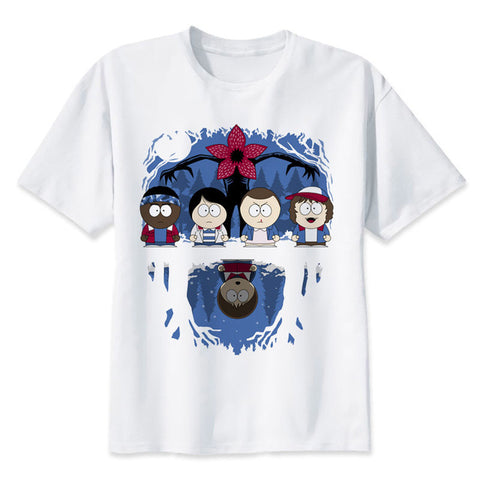 t shirt stranger things south park parody